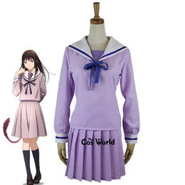 sailor uniform cosplay Coupons - anime cosplay Noragami Yukine Iki Hiyori School Uniform Sailor Suit Tops Dress Outfit Anime Cosplay Costumes