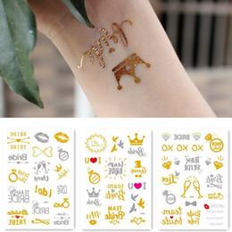 e2b966cc0 arrow flash tattoos Canada - Team bride tribe Flash Temporary Tattoo Gold  silver Metallic arrow Love