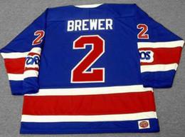 3e6814b10 Discount 1973 s - CARL BREWER Toronto Toros 1973 WHA Vintage Turn Back Hockey  Jersey All
