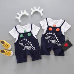 niedliche baby-outfits für den winter Rabatt MUQGEW Neugeborenes Kleinkind Baby Dinosaurier Print T-shirt Tops + Strap Pants Outfits Kleidung Set Overall Outfits Lässig Niedlich Kostüm