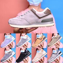 scarpe uomo interno Sconti scarpe casual di alta qualità per gli uomini e le donne aggiungono cashmere all'interno 574 Lace up scarpe piattaforma progettista fondo della scarpa allenatore EUR36-44