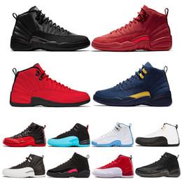 lowest price 28240 24a79 Großhandel 12 12s Mens Basketball Schuhe Winterized Gym Rot College Navy  Wings Schwarz CNY Bulls University Blue Männer Sport Sneakers Größe 7-13  sneakers ...