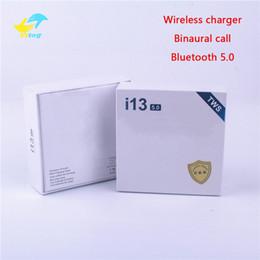 i13 tws мини Bluetooth Беспроводные наушники Наушники с зарядной коробкой сенсорное управление беспроводное зарядное устройство гарнитуры Android для смарт-мобильного телефона cheap wireless headsets for mobile phones от Поставщики беспроводные гарнитуры для мобильных телефонов