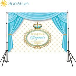 Sunsfun 7x5FT joyeux anniversaire Petit Prince Diamants Rideau Couronne Chaise Personnalisé Photo Studio Arrière-plans Vinyle 220x150 ? partir de fabricateur