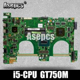 2019 mainboard para laptop A550JV N550JV A550JV N550JV motherboard Laptop para ASUS N550JV G550JK Teste original mainboard I5 CPU GT750M desconto mainboard para laptop