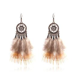 Vendita calda gioielli indiani Boho ciondola gli orecchini colorati etnici lunghi per le donne supplier indian earrings for sale da orecchini indiani in vendita fornitori