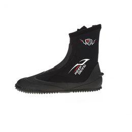 Zapato de invierno frío online-MANTENER BUCEO 5 MM Neopreno Buceo Buceo Botas largas Zapatos para agua Vulcanización Invierno Prueba de frío Altos Cálidos Altos superiores