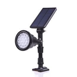 Alimenté par l'énergie solaire de 18 LED lampe de projecteur solaire réglable lampe de pelouse dans la terre IP65 étanche extérieur jardin paysage lumière murale ? partir de fabricateur