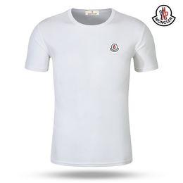 Projetos novos do tshirt on-line-Homens de algodão T-shirt 2019 Novo design de Impressão Moda Bordado Roupas Moncle T shirt Homens de manga Curta Camiseta camiseta ilha