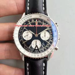 meilleures montres suisses Promotion 3 style meilleure montre de qualité 43mm Navitimer AB012012 / BB01 bandes de cuir Chronographe de travail suisse ETA 7750 mouvement montre homme