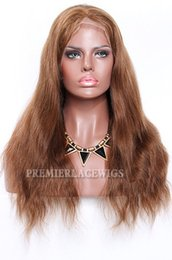 Volle Spitze Echthaar Perücken brasilianische Remy Haare braune Farbe natürliche gerade 150% Dichte natürlichen Haaransatz mit dem Babyhaar von Fabrikanten