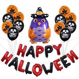 decoraciones de fiesta negro naranja Rebajas Feliz calabaza de Halloween Decoración de Halloween conjunto de látex globos naranja fiesta de Halloween Globo Negro Suministros de eventos