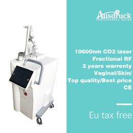 co2 laser laser Rebajas Eu libre de impuestos envío de DHL 40 W estrecho Vaginal co2 fraccional láser 10600nm cicatriz máquina de rejuvenecimiento de la piel del acné