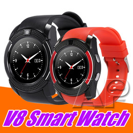 новые умные часы sim Скидка NEW V8 Smart Watch Sport SmartWatch с 0.3M камерой SIM IPS HD Full Circle Display для системы Android с розничной упаковкой