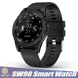 Tf armband online-SW98 Smart Watch Bluetooth Smartwatches Fitness Tracker Smart Armband mit Kamera-SIM-Kartensteckplatz TF-Karte für Android-Smartphones von Apple