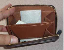 Mulheres estilo carteira de Paris mulheres famosas Zippy marca carteiras de lona revestida e PU de couro pequenas carteiras com zíper bolso de moedas de
