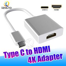 2019 adaptador hdmi de entrada vga USB C a HDMI Adaptador 4K USB 3.1 Tipo C Cable conector de alta definición para MacBook Pro