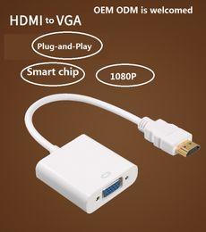 Hdcp câble hdmi en Ligne-usine directement CE OEM ODM adaptateur HDMI vers VGA Converter avec le fabricant audio HDMI Cable Support Full HD 1080p HDCP DHTV