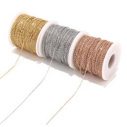 Argentina 2 M Acero Inoxidable de Oro Rosa / Oro Collar de Cadena de Eslabones Cable a Granel 2mm Ancho de Cadena para Hacer Joyas Hallazgos Suministros de BRICOLAJE Suministro