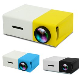 cartão hdmi sd do projetor Desconto LCD Projector Mini Home Theater 320x240 mídia Projetor Suporte 1080P SD Card AV USB interface HDMI portátil de bolso Beamer
