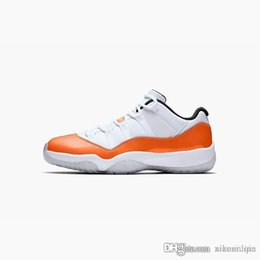 6f81854f451169 Cheap mens 11s lows basketball shoes retro j11 white orange snakeskin black  gold concords kids Jumpman 11 xi low sneakers boots with box