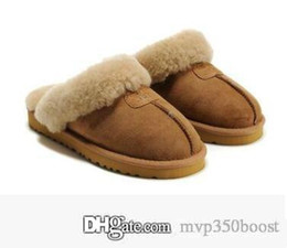 boots cowhide leather Coupons - 2019 Hot new Australian classic WGG 5125 warm Cotton Slippers men and Women Slippers Cowhide Baotou dlippers Snow Boots Votton Dlippers