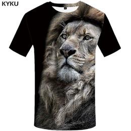 Lion T Shirt Hommes Animal Tshirt Sexe Drôle T Chemises 3d Imprimer T-shirt Hip Hop Cool Vêtements Pour Hommes New Summer Top ? partir de fabricateur