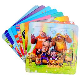 Livraison gratuite Valeur Prix spécial 16 pièces bébé enfant Papier Puzzle Précoce éducation Puissance vivifiante 12 feuilles Insérer jouet ? partir de fabricateur