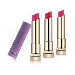 2019 rossetto opaco rosa scuro MYG Labbra cosmetici marca make up rossetto opaco rossetto impermeabile di lunga durata rossetto rosso arancio rosa