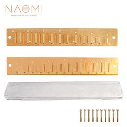 Armonica reed online-NAOMI 2PCS Armonica Reed Piatti 24 Ance Piastra di copertura in ottone C Tono con viti