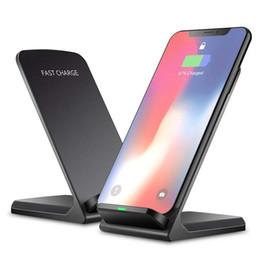 apfel universal dock station Rabatt 10W Qi Wireless-Ladegerät für iPhone XS XR X 8 für Samsung Anmerkung 9 Xiaomi Mix 2s Schnelle Wireless-Ladestation Docking Station