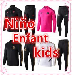 Sobrevivência de futebol 2019 2020 crianças psg treino de jogging jaqueta de futebol MBAPPE HAZARD KANTE 19 20 Paris Fatos de treino Terno de treino de Fornecedores de jaqueta de ozil