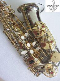 Marca Instrumen Musical NOVA YANAGISAWA WO37 Saxofone Alto Eb Nickel Banhado A Ouro Chave Profissional Alto Sax Bocal Presente de