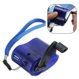 chargeurs portables d'urgence Promotion Dynamo Portable Extérieur Téléphone Portable Manivelle Chargeur D'urgence Manivelle Chargeur Téléphone Mobile Mini USB De Charge DH1367