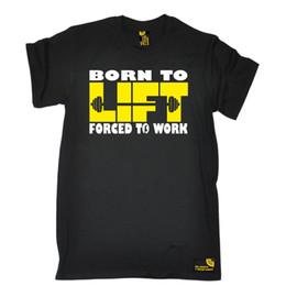 2019 подъемная сила Родился, чтобы поднять вынуждены работать футболку вес Бодибилдинг обучение день рождения Трамп пот sporter футболка скидка подъемная сила