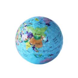 Divertenti regali da golf online-Sfere di golf di mappa del globo palline di golf di pratica della novità divertente per i bambini uomini regalo di compleanno della donna degli uomini