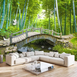 Small Bridges Custom Photo Wallpaper 3D Bamboo Forest Landscape Painting  Wall Decoration Living Room Bedroom Wallpaper Mural 3D Bamboo Forest  Wallpaper ...