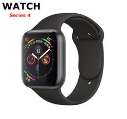 Iphone serie online-Für iphone iwatch iwo 9 smart watch 44mm serie 4 1to1 bluetooth smartwatch pulsmesser sport armbanduhr für iphone samsung