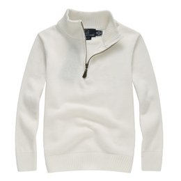 Argentina Hombres de lujo de punto Polo camisa de marca suéter para hombre Polos diseño de la cremallera bordado de manga larga para el otoño Wint cheap men s polo sweater Suministro