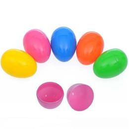 Commercio all'ingrosso 30 pz / lotto Colorate uova di Pasqua 8X5.5 cm di grandi dimensioni colori misti scatola di uovo titolare di plastica a forma di uovo scatole di caramelle fai da te fatti a mano giocattoli ayq da