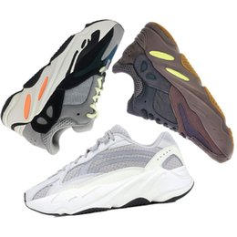 Adidas yeezy 700 boost Migliore Qualità Kanye West Wave Runner 700 V2  Statico Mauve Solido Grigio Sport Scarpe Da Corsa Uomo Donna Sport Sneakers  Scarpe ... 69e18866405