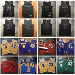 camisa de bape Desconto Authentic 23 James 30 Curry 41 Nowitzki 13 Harden MVP Preto Basketball Jersey 93BAPE x Mitchell Ness SnoopDogg Swingman Jersey