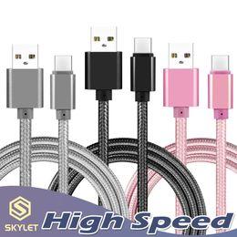 2019 adattatori per cavi usb all'ingrosso per telefoni Cavo USB ad alta velocità Tipo C TO C Adattatore di ricarica Dati Sincronizzazione Metallo Adattatore per telefono Spessore 0.48mm Spessore Intrecciato USB C Caricatore