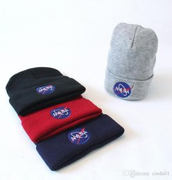 mens hat designers Coupons - Nasa Embroidered Mens Womens Designer Skullcaps Hip Hop Casual High Street Hats Male Female Beanie Free Shipping