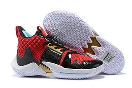 Russell Westbrook 2 ¿Por qué no las zapatillas de baloncesto Zer0.2 Thunder Men para zapatillas deportivas Super Top en negro de alta calidad, tamaño 40-46 desde fabricantes