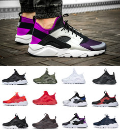 huaraches sneakers women Promo Codes - 2019 Air Huarache 1.0 4.0 Men Running Shoes Stripe Red Balck White Rose Gold Women Designer Shoes Huaraches Ultra Reflect Sport Sneakers