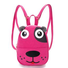 Mochilas de perro lindo online-Moda Niños Niñas Niños Mochilas casuales Niños populares Nubuck Leather Cute Dog Backpack Adolescente School Shoulder Bags