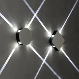 kreuzbeleuchtung geführt Rabatt Runde quadratische Wandleuchte des modernen kreativen Ganges Nachtkorridor-Treppenhaus-Badezimmer-Hotel-Projekt-LED Innenkreuzstern-Wandleuchte