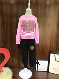 малыш девушка одежда осень девочки две части дети с длинным рукавом рубашки повседневные брюки спортивный костюм модные наряды девушки осень одежда ребенка 24 от Поставщики розовое золото