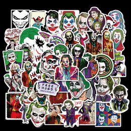 Filmes laptop on-line-50PCS O Joker Filme Adesivos palhaço dos desenhos animados Para o Caso Estilo Laptop motocicleta Skate bagagem Decal Crianças Toy B1